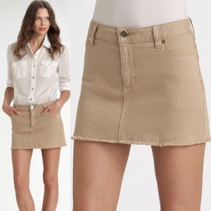 Tory Burch |  Women's Khaki Mini Denim Skirt